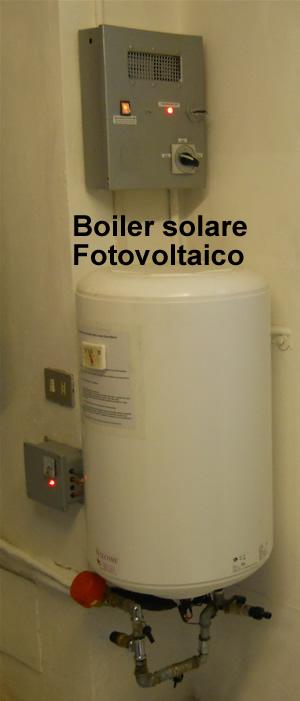 Scaldabagno boiler fotovoltaico